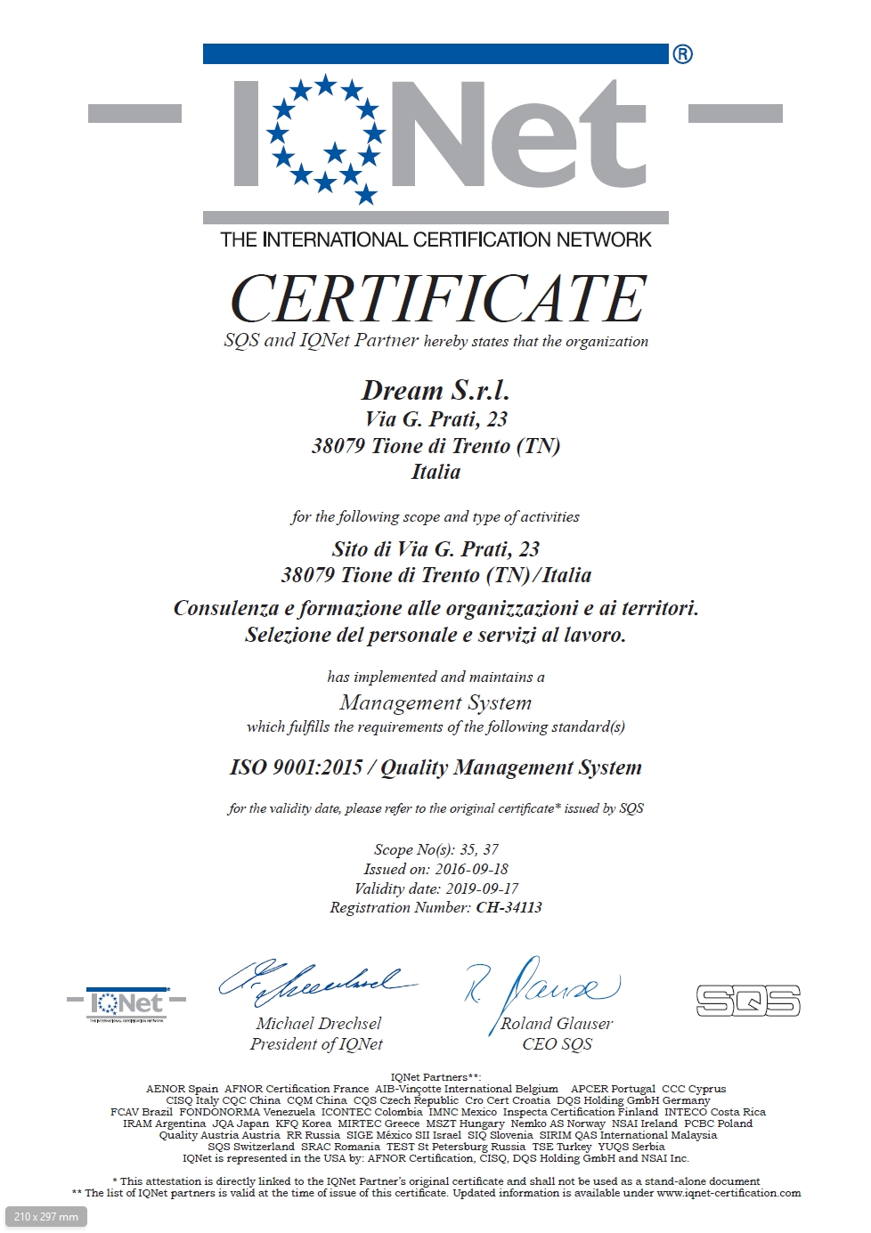 certificato_iq_dream